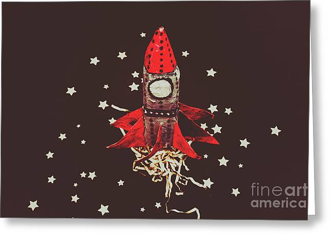Retro Cosmic Adventure Greeting Card by Jorgo Photography - Wall Art Gallery