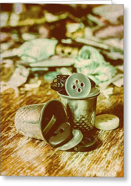 Retro Craft Buckets Greeting Card by Jorgo Photography - Wall Art Gallery