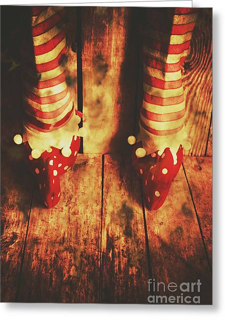 Retro Elf Toes Greeting Card by Jorgo Photography - Wall Art Gallery