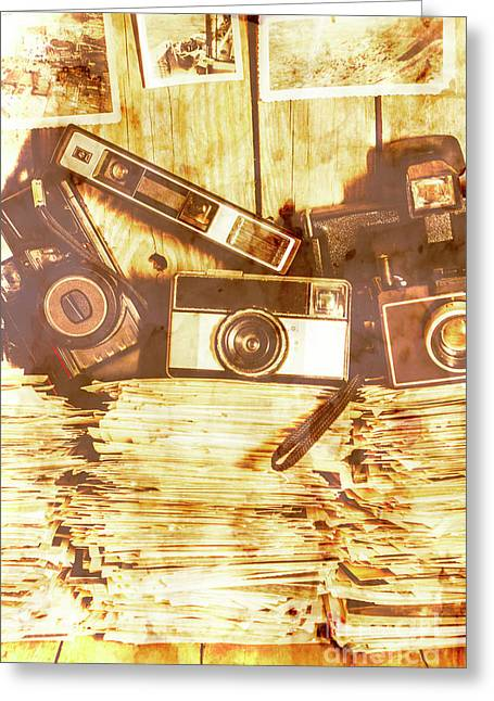 Retro Film Cameras Greeting Card