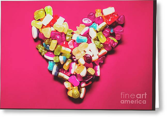 Retro Gummy Lolly Love Greeting Card by Jorgo Photography - Wall Art Gallery