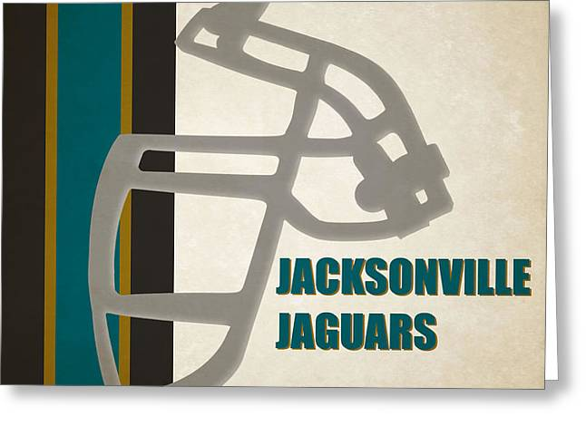 Retro Jaguars Art Greeting Card by Joe Hamilton