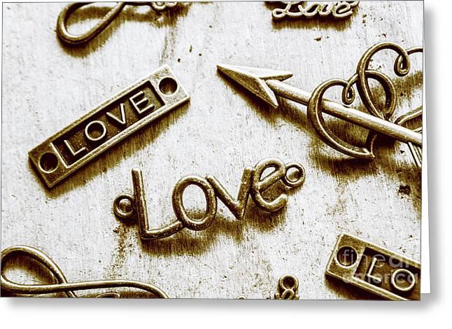 Retro Love Heart Jewels  Greeting Card