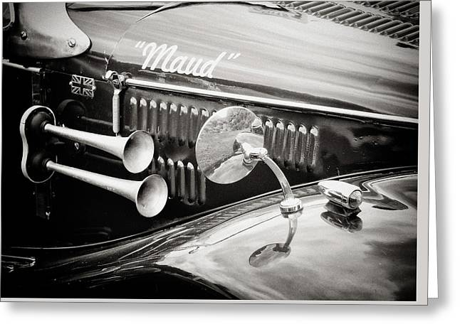 Retro - Maud - Vintage Car Greeting Card by Philip Openshaw
