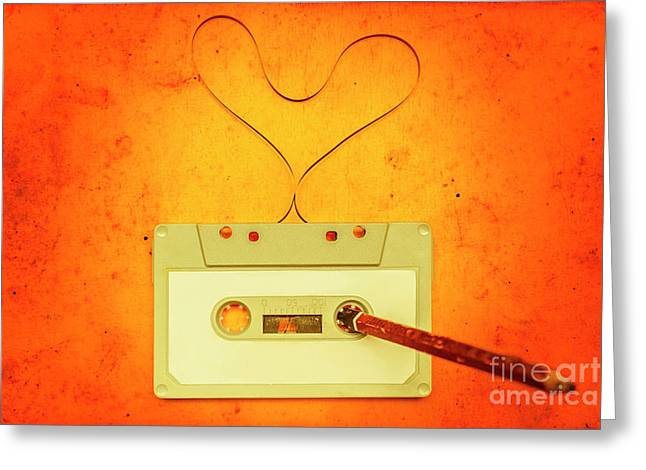 Retro Music Love Greeting Card by Jorgo Photography - Wall Art Gallery