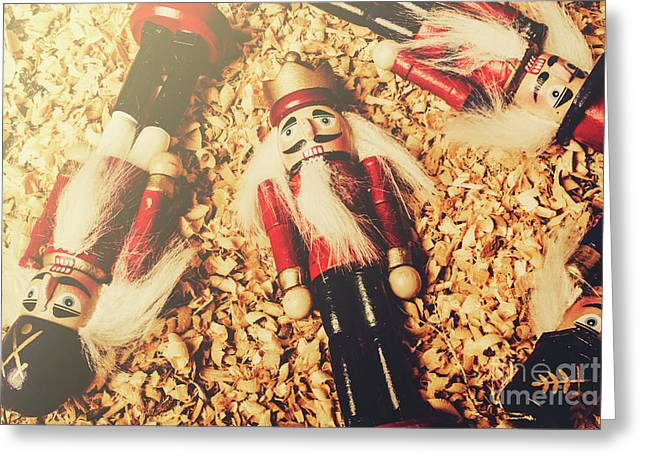 Retro Nutcrackers Greeting Card by Jorgo Photography - Wall Art Gallery
