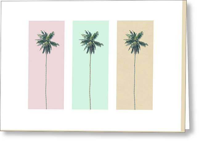 Retro Palms Greeting Card