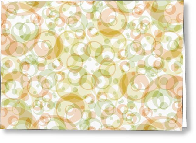 Retro Pattern In Light Earth Tones On White  Greeting Card
