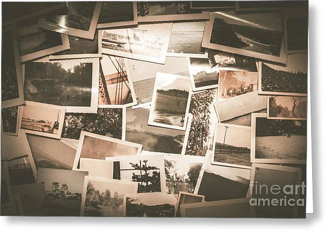 Retro Photo Album Background Greeting Card