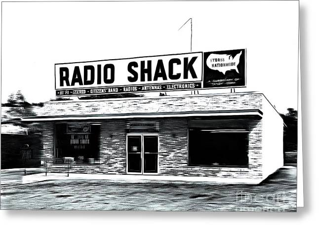 Retro Radio Shack Greeting Card by Edward Fielding