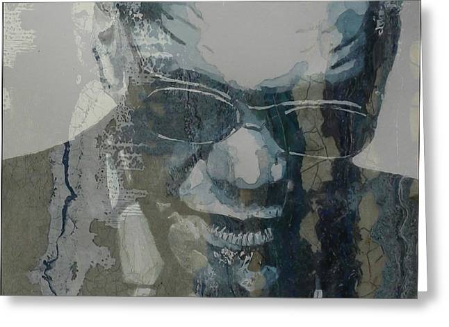 Retro / Ray Charles  Greeting Card by Paul Lovering