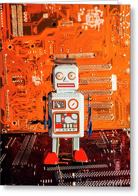 Retro Robotic Nostalgia Greeting Card by Jorgo Photography - Wall Art Gallery