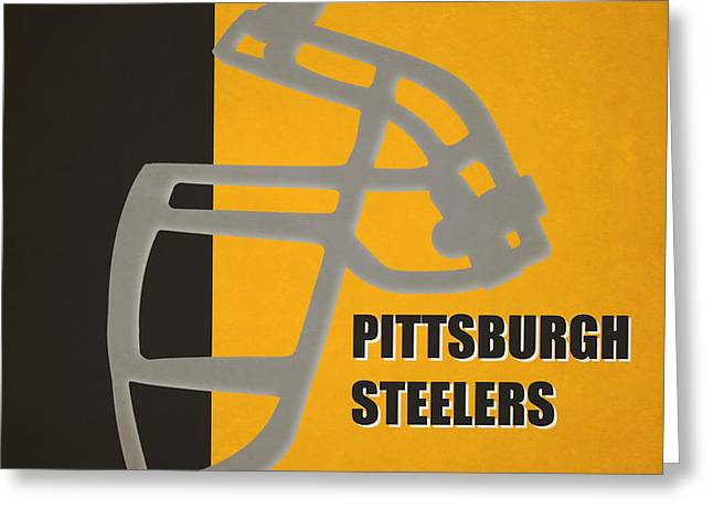 Retro Steelers Art Greeting Card by Joe Hamilton