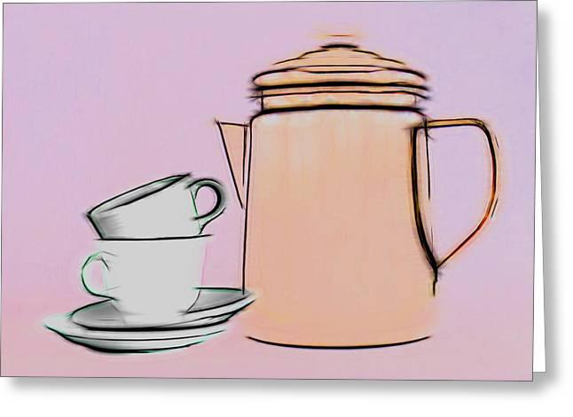 Retro Style Coffee Illustration Greeting Card