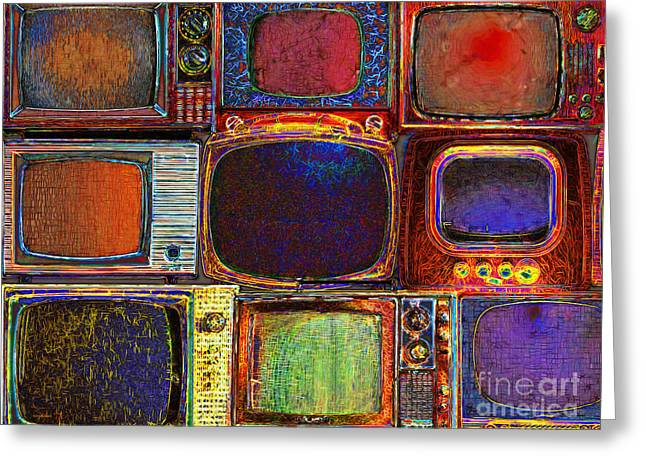 Retro Television Marathon 20150928 Greeting Card by Wingsdomain Art and Photography