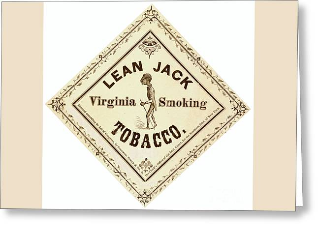 Retro Tobacco Label 1867 A Greeting Card