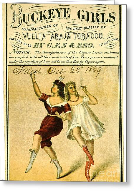 Retro Tobacco Label 1869 F Greeting Card