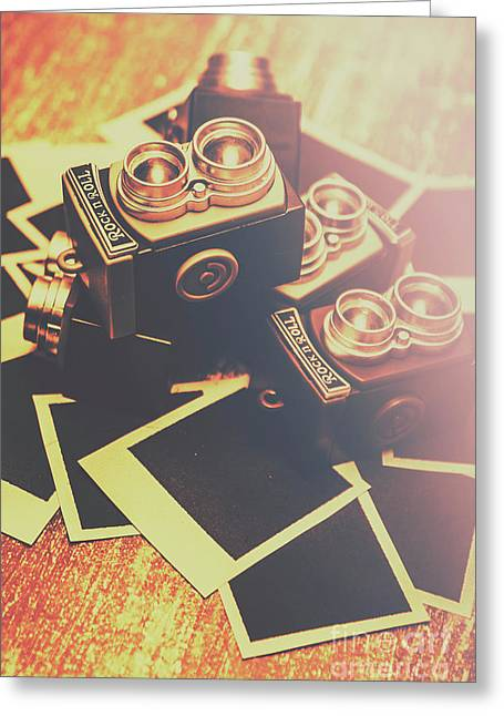 Retro Twin Lens Reflex Cameras Greeting Card by Jorgo Photography - Wall Art Gallery
