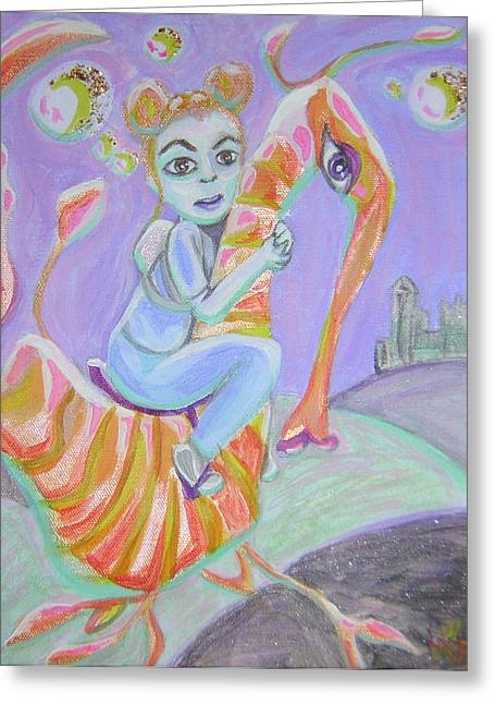 Return Of The Prodigal Water Baby Greeting Card by Michelley QueenofQueens