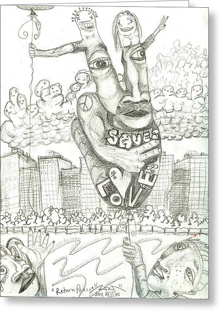 Return Peace Greeting Card by Robert Wolverton Jr