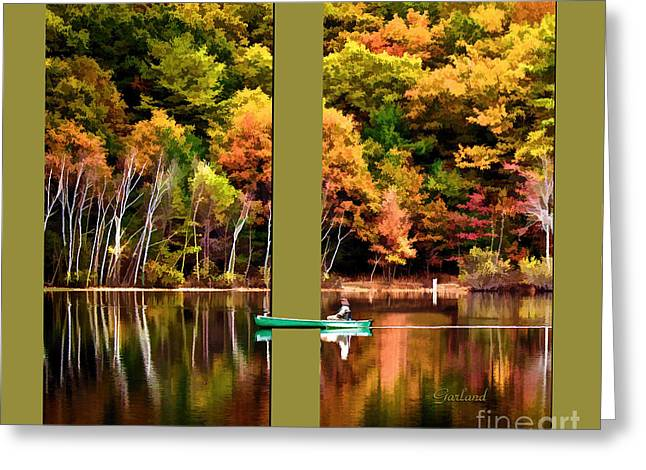 Return To Lake Transition Two Thirds Greeting Card by Garland Johnson