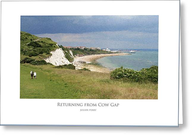 Returning From Cow Gap Greeting Card