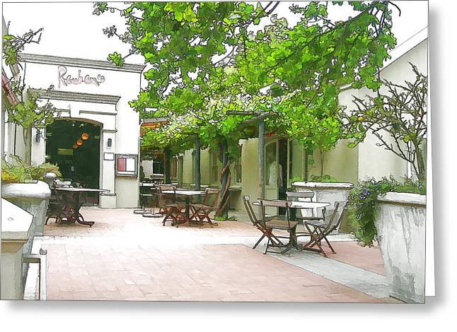 Reuben's In Franschhoek Greeting Card