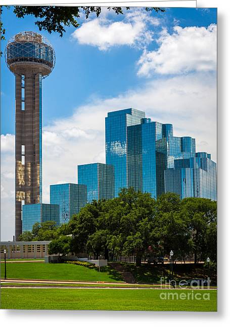 Reunion Tower Greeting Card by Inge Johnsson