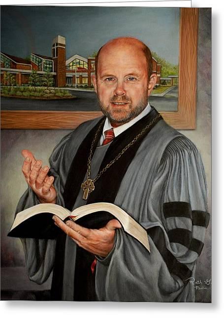 Rev. Jeff Garrison Greeting Card by Ruth Gee