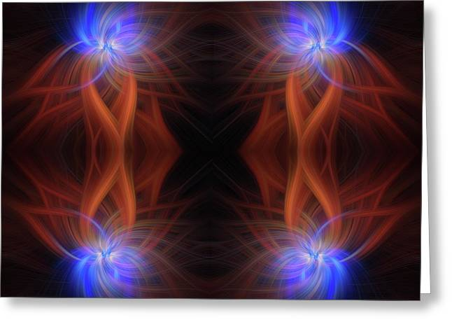 Revealed Light. Mystery Of Colors Greeting Card