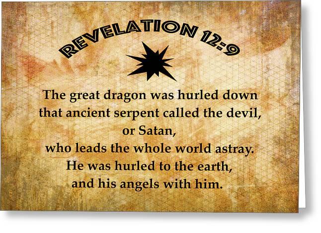 Revelation 12 Great Dragon Greeting Card