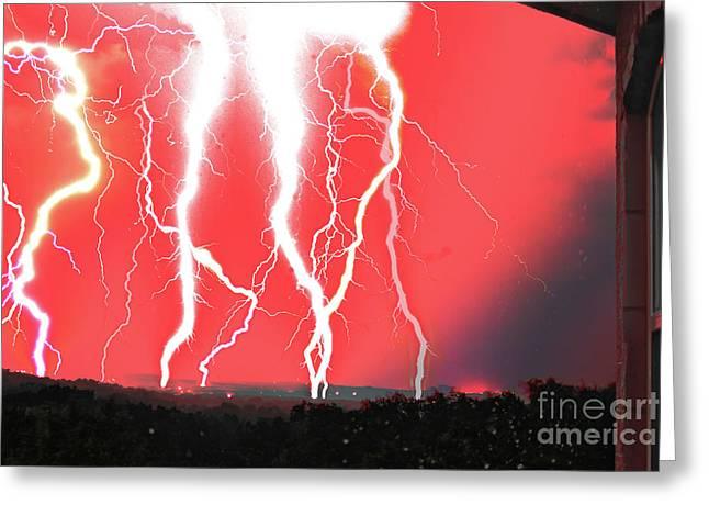 Lightning Apocalypse Greeting Card
