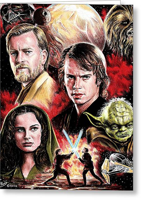 Revenge Of The Sith Edit Greeting Card