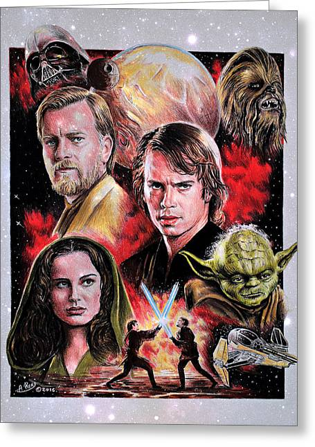 Revenge Of The Sith Star Edit Greeting Card