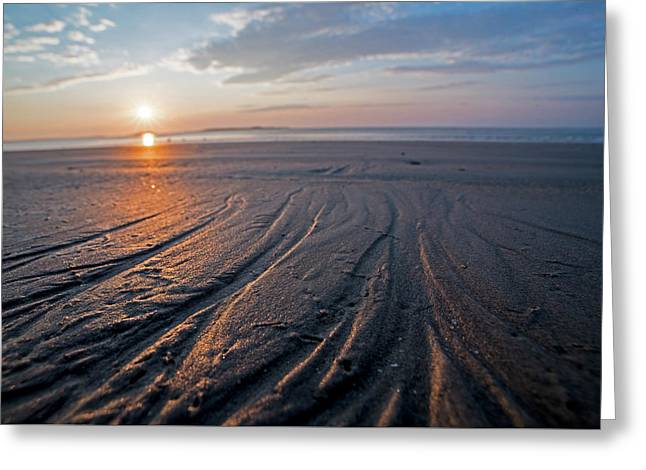 Revere Beach Sand Patterns Revere, Ma Greeting Card by Toby McGuire