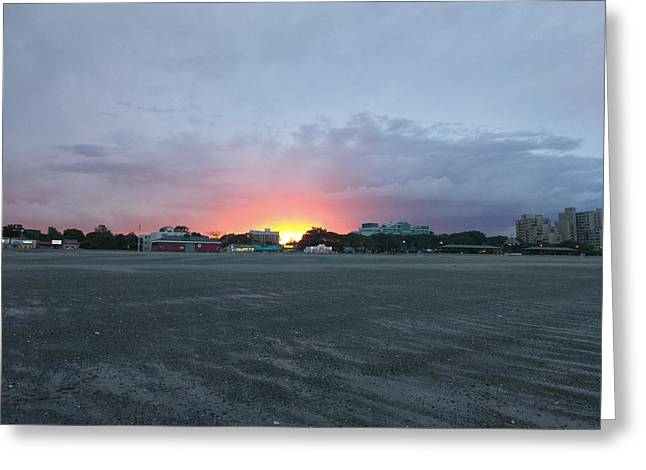 Revere Beach Sunset Greeting Card