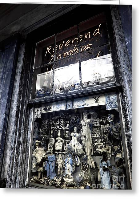Reverend Zombie's House Of Voodoo Infrared Greeting Card by John Rizzuto