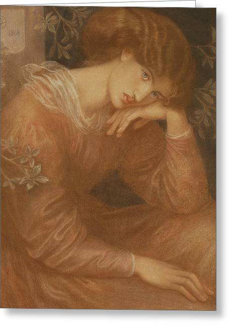 Reverie Greeting Card by Dante Gabriel Charles Rossetti