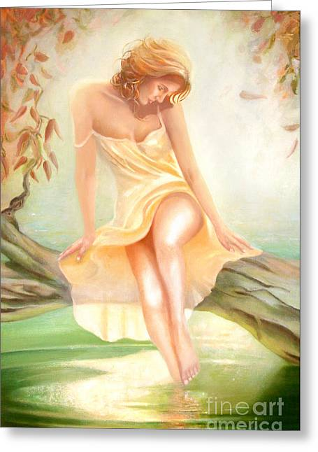 Greeting Card featuring the painting Reverie by Michael Rock