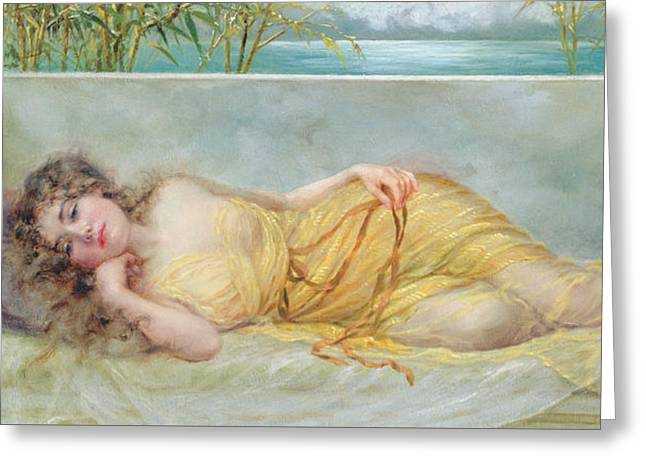 Reverie Greeting Card by Norman Prescott Davies