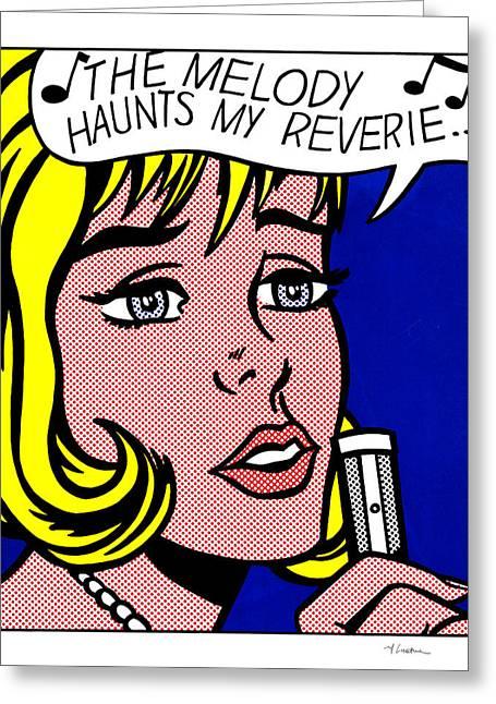 The Melody Haunts My Reverie - Roy Lichtenstein Greeting Card