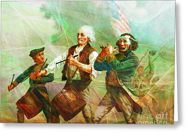 Revisiting The Spirit Of 76 20150704 Greeting Card by Wingsdomain Art and Photography