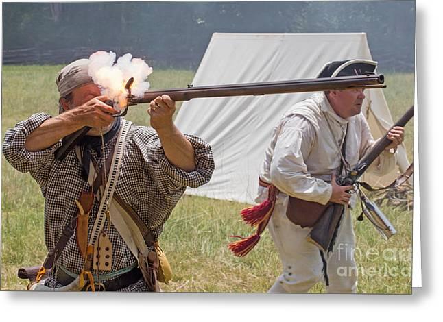 Revolutionary War Reenactment Greeting Card