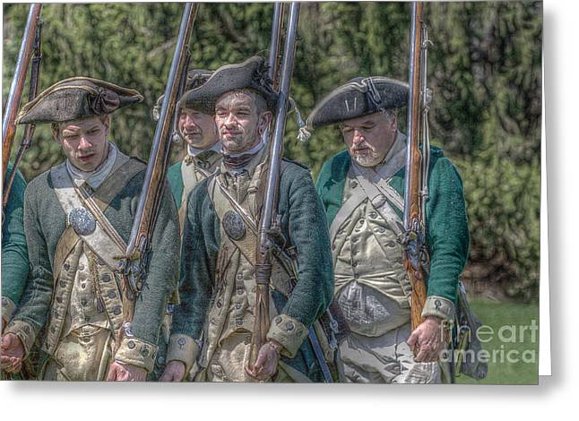 Militaria Greeting Cards - Revolutionary War Soldiers 1 Greeting Card by Randy Steele