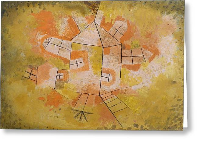 Revolving House Greeting Card by Paul Klee