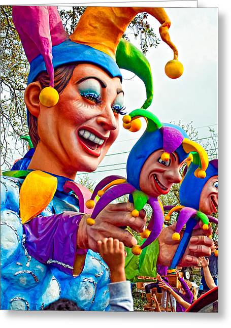 Rex Mardi Gras Parade Xi Greeting Card by Steve Harrington