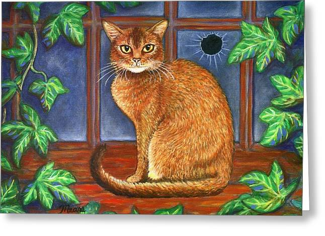 Rex The Cat Greeting Card by Linda Mears