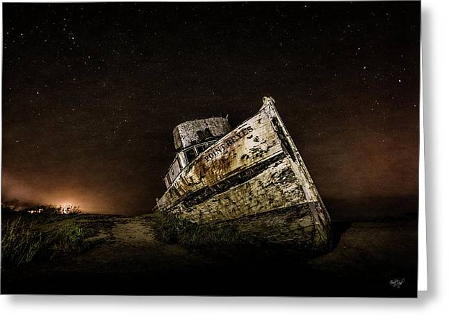 Greeting Card featuring the photograph Reyes Shipwreck by Everet Regal