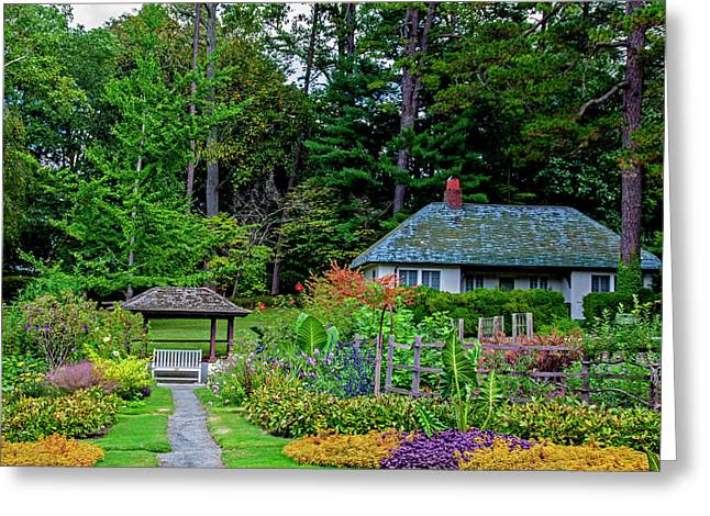 Reynolda Gardens Greeting Card by Jean Haynes