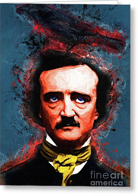 Reynolds I Became Insane With Long Intervals Of Horrible Sanity Edgar Allan Poe Greeting Card by Wingsdomain Art and Photography